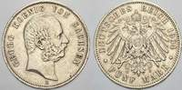 Sachsen 5 Mark 1904  E Sehr schön Georg 1902-1904. 55,00 EUR Tax included +  shipping