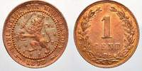 Niederlande 1 Cent 1878 Feinste stempelglanz Willem III. 1849-1890. 50,00 EUR Tax included +  shipping