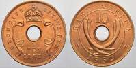 Ost Afrika & Uganda Bronze 10 Cent 1952 Stempelglanz Georg V, 1937-1952. 35,00 EUR Tax included +  shipping