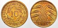 Weimarer Republik 10 Reichspfennig 1935  F Feinste stempelglanz mit schö... 20,00 EUR Tax included +  shipping