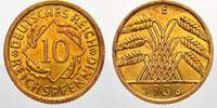 Weimarer Republik 10 Reichspfennig 1936  E Feinste stempelglanz mit schö... 25,00 EUR Tax included +  shipping
