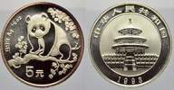 China 5 Yuan (Panda) Volksrepublik seit 1955.